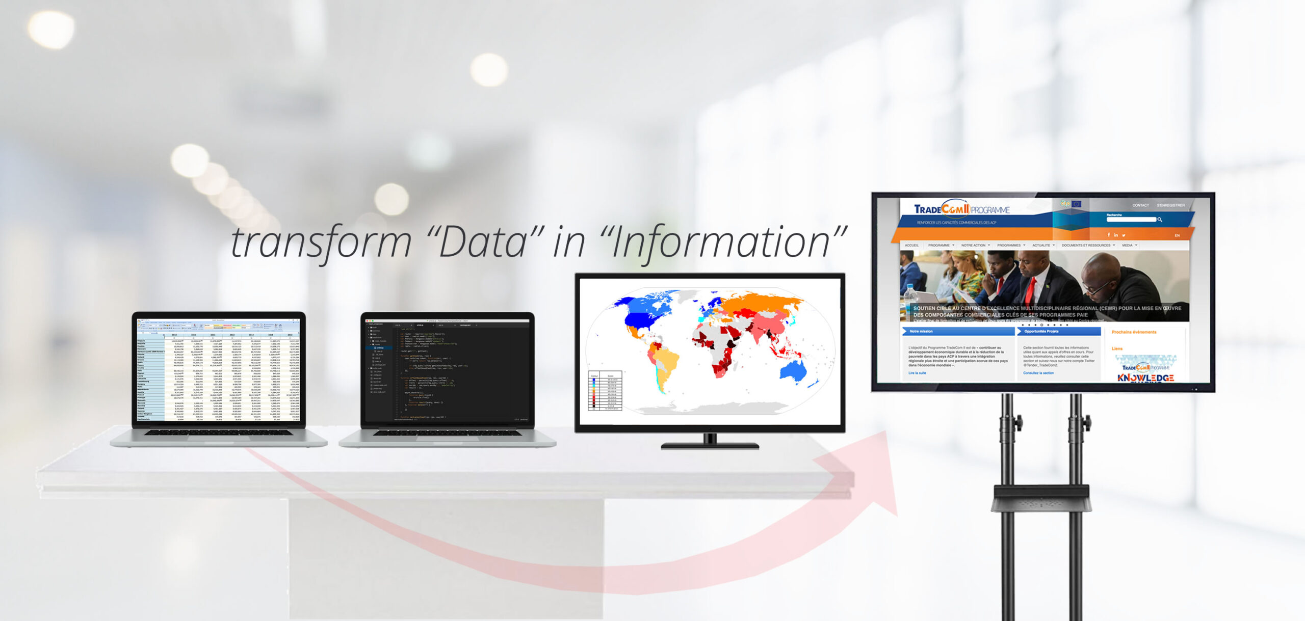 Our Goal is to help our clients to transform 'Data' in 'Information'.